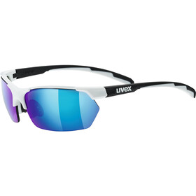 UVEX Sportstyle 114 Lunettes de sport, white/black matt/mirror blue